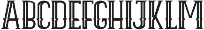 ELPIDA OUTLINE Regular otf (400) Font UPPERCASE