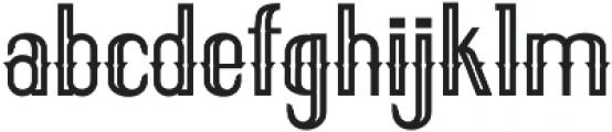 ELPIDA OUTLINE Regular otf (400) Font LOWERCASE
