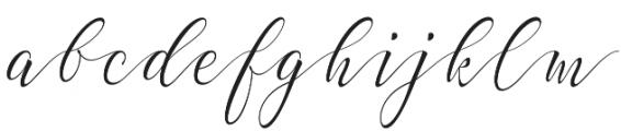 Elastic otf (400) Font LOWERCASE