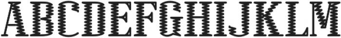 Electric Regular otf (400) Font UPPERCASE