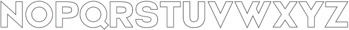 Electronica Display Outline otf (400) Font UPPERCASE