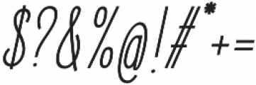 Elegant Sans Italic otf (400) Font OTHER CHARS