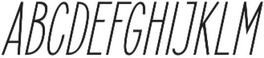 Elegant Sans Italic otf (400) Font UPPERCASE