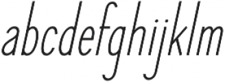 Elegant Sans Italic otf (400) Font LOWERCASE