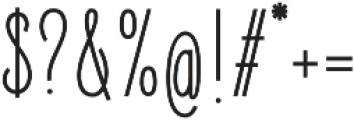 Elegant Sans Regular otf (400) Font OTHER CHARS