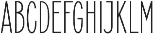 Elegant Sans Regular otf (400) Font UPPERCASE