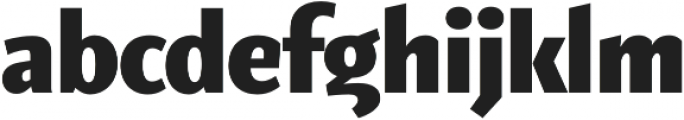 Elemental Sans Pro Extra Bold otf (700) Font LOWERCASE