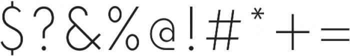 Elenar ExtraLight ttf (200) Font OTHER CHARS