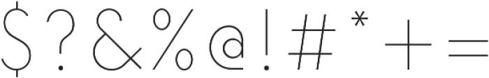 Elenar Thin otf (100) Font OTHER CHARS