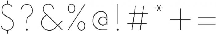 Elenar Thin ttf (100) Font OTHER CHARS