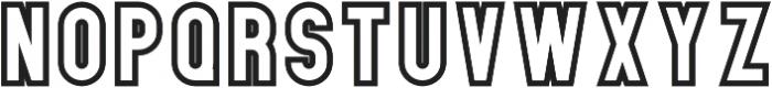 Elephant OutlineThree otf (400) Font UPPERCASE