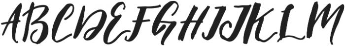Elfa Brush otf (400) Font UPPERCASE