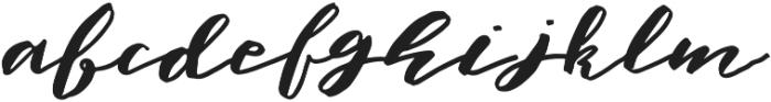 Elfa Brush otf (400) Font LOWERCASE