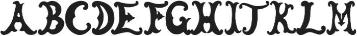Elfin Shoes otf (400) Font UPPERCASE