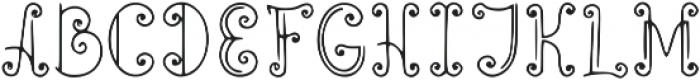 Elfline otf (400) Font UPPERCASE