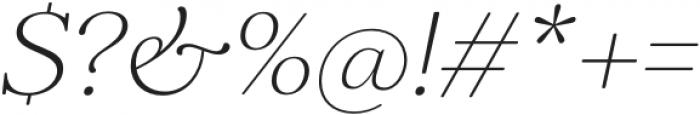 Elgraine ExtraLight Italic otf (200) Font OTHER CHARS