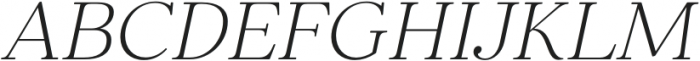 Elgraine ExtraLight Italic otf (200) Font UPPERCASE