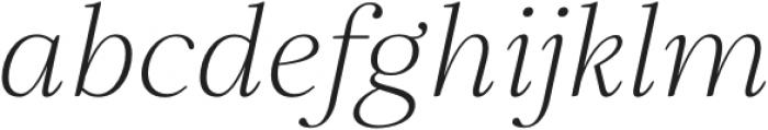 Elgraine ExtraLight Italic otf (200) Font LOWERCASE