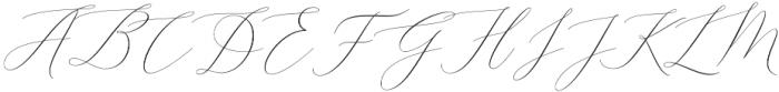 Elise Dafisa Script Regular otf (400) Font UPPERCASE