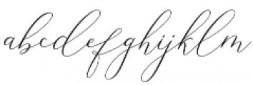 Elise Dafisa Script Regular otf (400) Font LOWERCASE