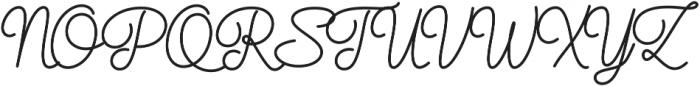 Elixir Script Bold otf (700) Font UPPERCASE