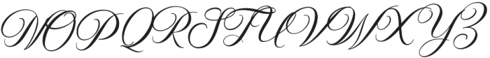 Elizabeth Script otf (400) Font UPPERCASE