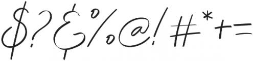 Elliana Script Regular otf (400) Font OTHER CHARS