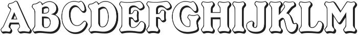 Ellington Shadow ttf (400) Font UPPERCASE