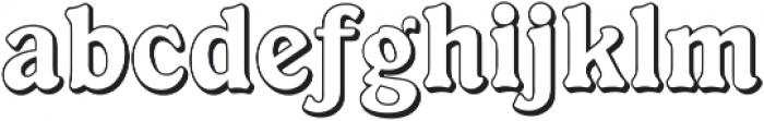 Ellington Shadow ttf (400) Font LOWERCASE