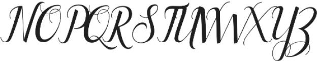 Ellizabeth Regular otf (400) Font UPPERCASE
