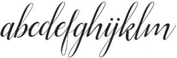 Ellizabeth Regular otf (400) Font LOWERCASE