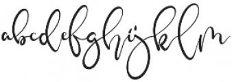 Elmah otf (400) Font LOWERCASE