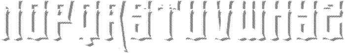 el tigres shadow one otf (400) Font UPPERCASE