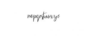 Elegant Fashion script.ttf Font LOWERCASE