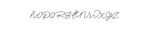 Elizany Signature Font UPPERCASE