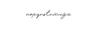 Elizany Signature Font LOWERCASE