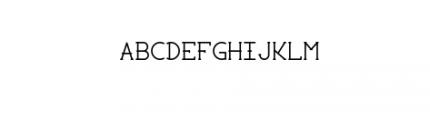 Elussy Font UPPERCASE