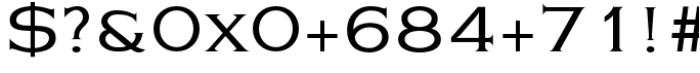 Eleganza Medium Plus Font OTHER CHARS