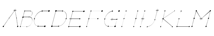 Elara Italic Font UPPERCASE