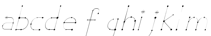Elara Italic Font LOWERCASE