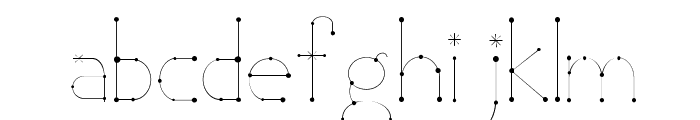 Elara Font LOWERCASE