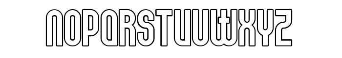 Elbaris Outline Regular Font UPPERCASE