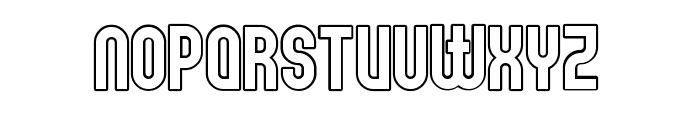 Elbaris Outline Regular Font LOWERCASE