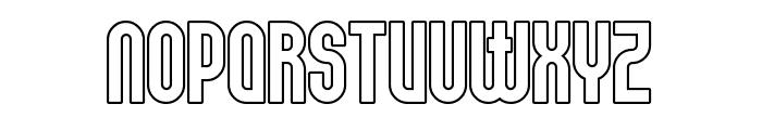 Elbaris Outline Font UPPERCASE