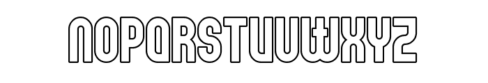 Elbaris Outline Font LOWERCASE