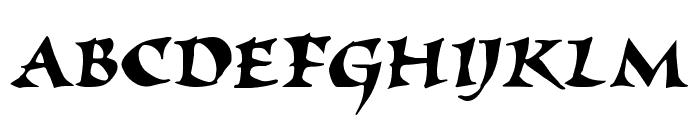 Elbjorg Script Font UPPERCASE