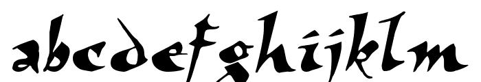 Elbjorg Script Font LOWERCASE
