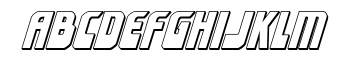 Eldebaran 3D Italic Font LOWERCASE