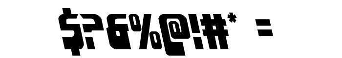 Eldebaran Leftalic Font OTHER CHARS
