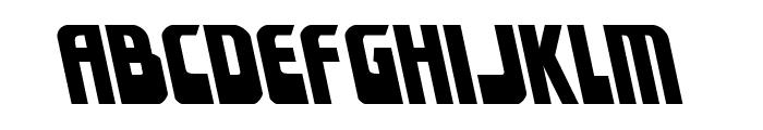 Eldebaran Leftalic Font LOWERCASE